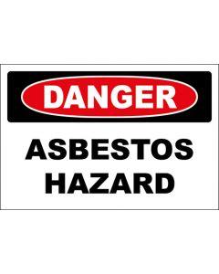 OSHA Hinweisschild Asbestos Hazard Danger | Aufkleber · Magnetschild · Aluminium-Schild