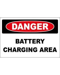 OSHA Hinweisschild Battery Charging Area Danger | Aufkleber · Magnetschild · Aluminium-Schild
