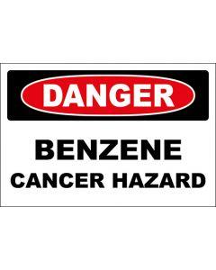 OSHA Hinweisschild Benzene Cancer Hazard Danger | Aufkleber · Magnetschild · Aluminium-Schild