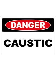 OSHA Hinweisschild Caustic Danger | Aufkleber · Magnetschild · Aluminium-Schild