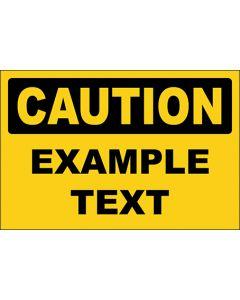 OSHA Hinweisschild Example Text Caution | Aufkleber · Magnetschild · Aluminium-Schild