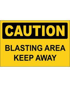 OSHA Hinweisschild Blasting Area Keep Away Caution | Aufkleber · Magnetschild · Aluminium-Schild