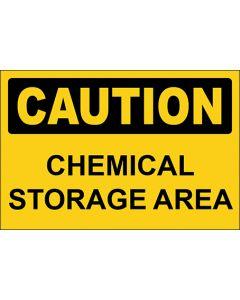 OSHA Hinweisschild Chemical Storage Area Caution | Aufkleber · Magnetschild · Aluminium-Schild