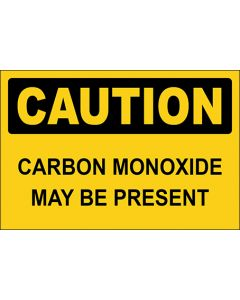 OSHA Hinweisschild Carbon Monoxide May Be Present Caution | Aufkleber · Magnetschild · Aluminium-Schild