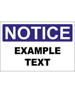 OSHA Hinweisschild Example Text Notice | Aufkleber · Magnetschild · Aluminium-Schild
