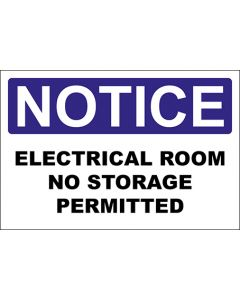 OSHA Hinweisschild Electrical Room No Storage Permitted Notice | Aufkleber · Magnetschild · Aluminium-Schild
