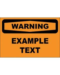 OSHA Hinweisschild Example Text Warning | Aufkleber · Magnetschild · Aluminium-Schild