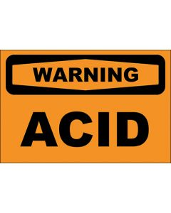 OSHA Hinweisschild Acid Warning | Aufkleber · Magnetschild · Aluminium-Schild