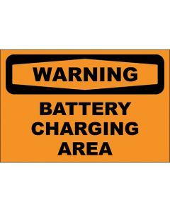 OSHA Hinweisschild Battery Charging Area Warning | Aufkleber · Magnetschild · Aluminium-Schild