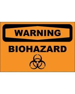 OSHA Hinweisschild Biohazard Warning | Aufkleber · Magnetschild · Aluminium-Schild