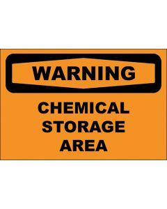 OSHA Hinweisschild Chemical Storage Area Warning | Aufkleber · Magnetschild · Aluminium-Schild