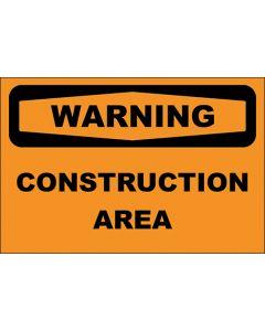 OSHA Hinweisschild Construction Area Warning | Aufkleber · Magnetschild · Aluminium-Schild