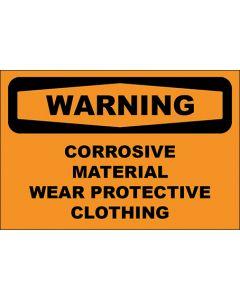OSHA Hinweisschild Corrosive Material Wear Protective Clothing Warning | Aufkleber · Magnetschild · Aluminium-Schild