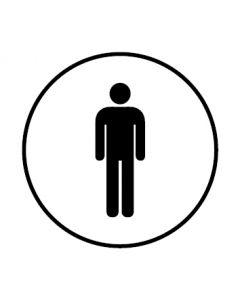 WC Toiletten Kennzeichnung | Herren | weiss · rund