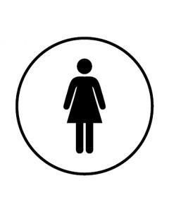 WC Toiletten Kennzeichnung | Damen | weiss · rund