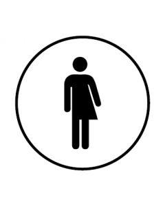 WC Toiletten Kennzeichnung | Transgender | weiss · rund