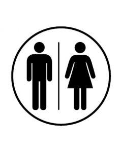 WC Toiletten Kennzeichnung | Herren · Damen | weiss · rund