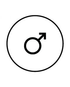 WC Toiletten Kennzeichnung | Symbol Mann | weiss · rund