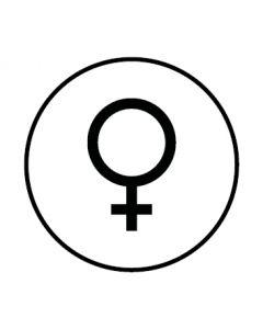 WC Toiletten Kennzeichnung | Symbol Frau | weiss · rund