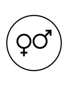 WC Toiletten Kennzeichnung | Symbol Herren · Damen | weiss · rund