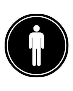 WC Toiletten Kennzeichnung | Herren | schwarz · rund