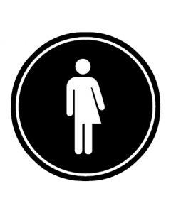 WC Toiletten Kennzeichnung | Transgender | schwarz · rund