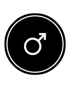 WC Toiletten Kennzeichnung | Symbol Mann | schwarz · rund