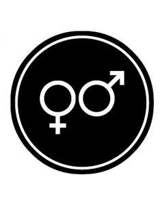 WC Toiletten Kennzeichnung | Symbol Herren · Damen | schwarz · rund