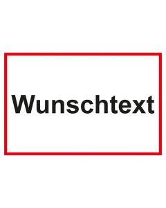 Garderobenschild Wunschtext · weiß - rot