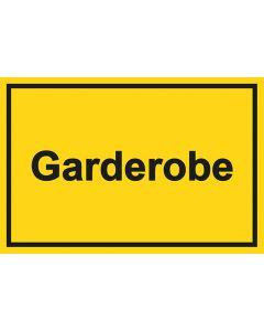 Garderobenschild Garderobe · gelb
