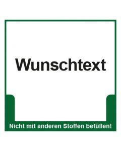 Abfall Behälter Kennzeichnung Wunschtext · Aufkleber | Schild | Magnetschild