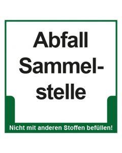 Abfall Behälter Kennzeichnung Abfall Sammelstelle