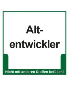Abfall Behälter Kennzeichnung Altentwickler