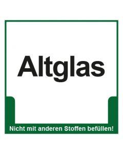 Abfall Behälter Kennzeichnung Altglas