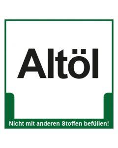 Abfall Behälter Kennzeichnung Altöl