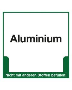 Abfall Behälter Kennzeichnung Aluminium