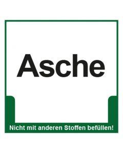 Abfall Behälter Kennzeichnung Asche