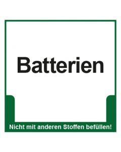 Abfall Behälter Kennzeichnung Batterien