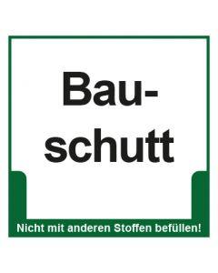 Abfall Behälter Kennzeichnung Bauschutt