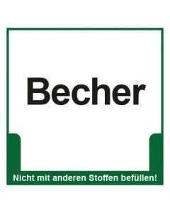 Abfall Behälter Kennzeichnung Becher