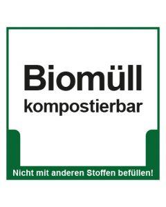 Abfall Behälter Kennzeichnung Biomüll kompostierbar