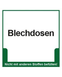 Abfall Behälter Kennzeichnung Blechdosen