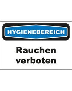 Hinweis-Schild Hygienebereich Rauchen verboten
