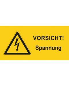 Warnhinweis Elektrotechnik Vorsicht Spannung · mit Warnzeichen