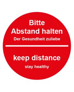 Abstand & Diskretion Zeichen Abstandspunkte Mod. 5 rot · Aufkleber | Schild | Magnetschild | Fußbodenaufkleber