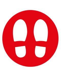 Abstand & Diskretion Zeichen Abstandspunkte Mod. 6 rot · Aufkleber | Schild | Magnetschild | Fußbodenaufkleber