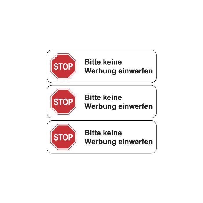 Briefkasten Aufkleber Bitte Keine Werbung Einwerfen Typ 3 Weiss