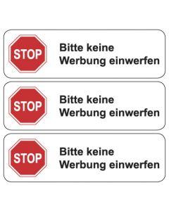 """Briefkasten Aufkleber """"Bitte keine Werbung einwerfen"""" TYP 3   weiss"""