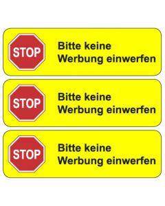 """Briefkasten Aufkleber """"Bitte keine Werbung einwerfen"""" TYP 4   gelb"""