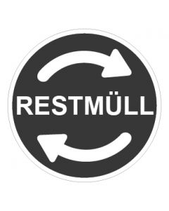 Recycling Wertstoff Mülltrennung Symbol Restmüll